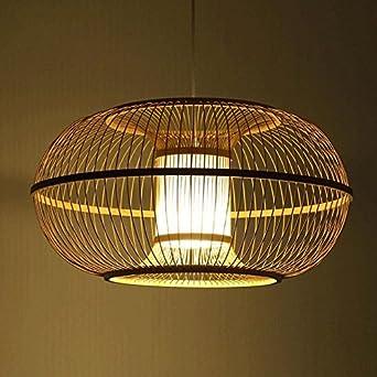 TL-LAMPS Lampe à suspension en rotin osier bambou décoration l\'ombre ...