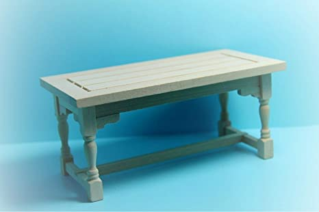 Amazon Com Dollhouse Unfinished Rectangle Working Table Kitchen