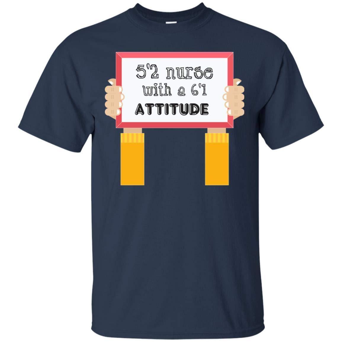 Teelesto 52 Nurse with A 61 Attitude Nursing Shirt