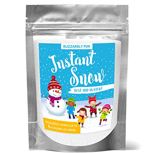 Blizzardly Fun- Instant Fake Snow Powder for Slime, Cloud Slime, Insta Snow, Slime Stuff | 6 Gallons