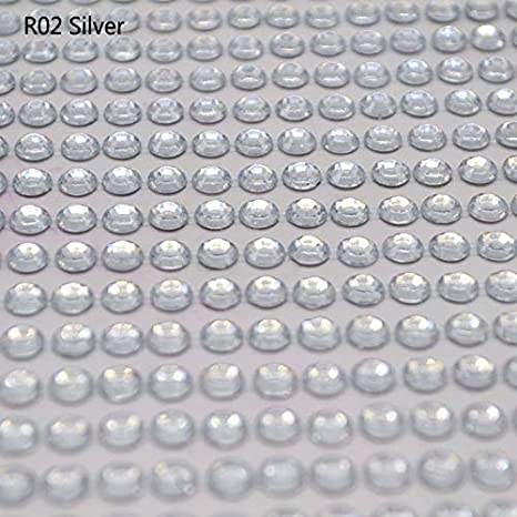 3 Sheets of 504pcs Clear 6mm Round Self-Adhesive Acrylic Rhinestones Stickers