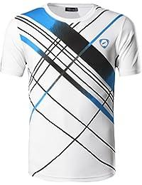 jeansian Men's Sport Quick Dry Short Sleeve T-Shirt LSL133a