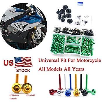 Amazon.com: Complete Alloy Motorcycle Body Fairing Bolt Kit ...