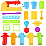 Kare & Kind Set of 21 pcs Smart Dough Tools Kit with Extruder Machine / Extruder tools / Models and Molds (Food, Silverware)