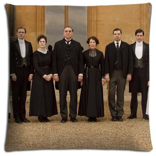 16x16 inch 40x40 cm car pillow shells cases Cotton + Polyester easy care ease Downton Abbey