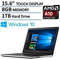 2016 Dell Inspiron 15 15.6-Inch Touchscreen Flagship Pemium Laptop PC, AMD A10-8700P Processor, 8GB Memory, 1TB HDD, DVD +/- RW , Webcam, Bluetooth, HDMI, Windows 10