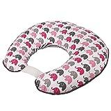 Elephants Pink/Grey Nursing Pillow Cover