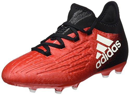adidas X 16.1 FG J - Botas de fútbol para niños, Rojo - (ROJO/FTWBLA/NEGBAS), -33
