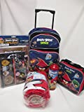 Angry Birds Space Large 16'' Rolling Backpack, Lunch Box, Pencil Pouch & Stationery Set