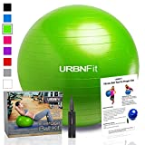 Exercise Ball (Multiple Sizes) for Fitness, Stability, Balance & Yoga - Workout Guide & Quick Pump Included - Anit Burst Professional Quality Design (Green, 65CM)