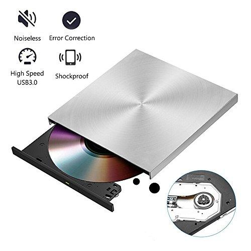 Laptop External CD Drive USB 3.0, Portable DVD-RW Drive Slim DVD/CD ROM Rewriter Burner Writer High-Speed Data Transfer MacBook windows7/8/10/XP/Vista/ME/2000/XP/Vista by Dainty (Image #4)