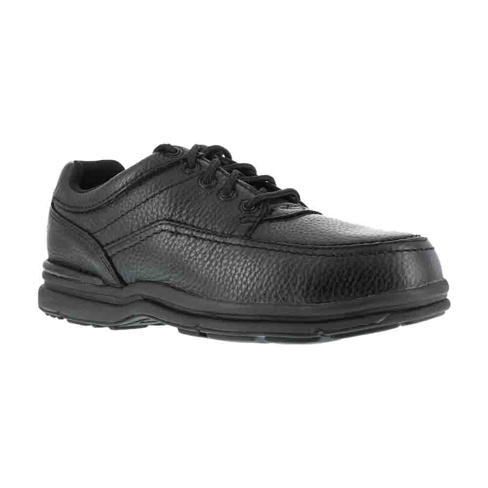 Rockport RK6761 World Tour Black Leather Steel-Toe Oxford Shoe-10.5EW