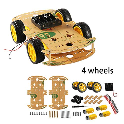 (for Arduino DIY Smart Motor Robot Car Chassis Kit with Speed Encoder Wheels and Battery Box, Intelligent and Educational Toy Car Robotic Kit for Kids Teens)