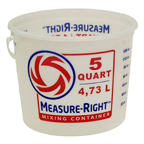 United Solutions 5-Quart Residential Paint Bucket Measure-Right Mixing Container Painters MR Mixing Pail