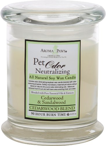 Aroma Paws Odor Neutralizing Candle Cedarwood Blend, My Pet Supplies
