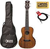 Luna Guitars A/E Concert Tattoo LEFTY w/Cable & PC