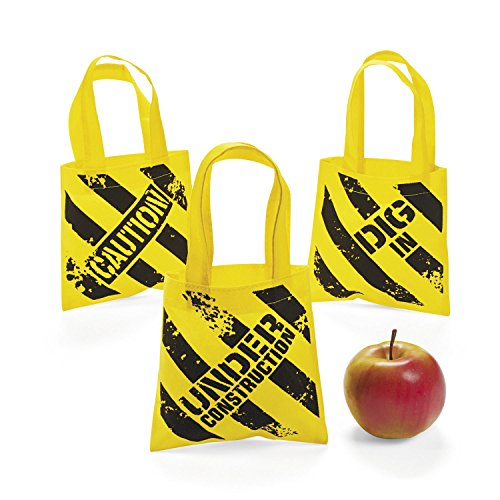 (Fun Express Construction Zone Mini Tote Bags - 12)
