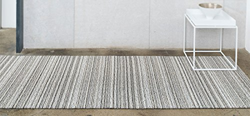 Chilewich Shag Skinny Stripe Floormat Runner 24'' X 72'' Birch by Chilewich