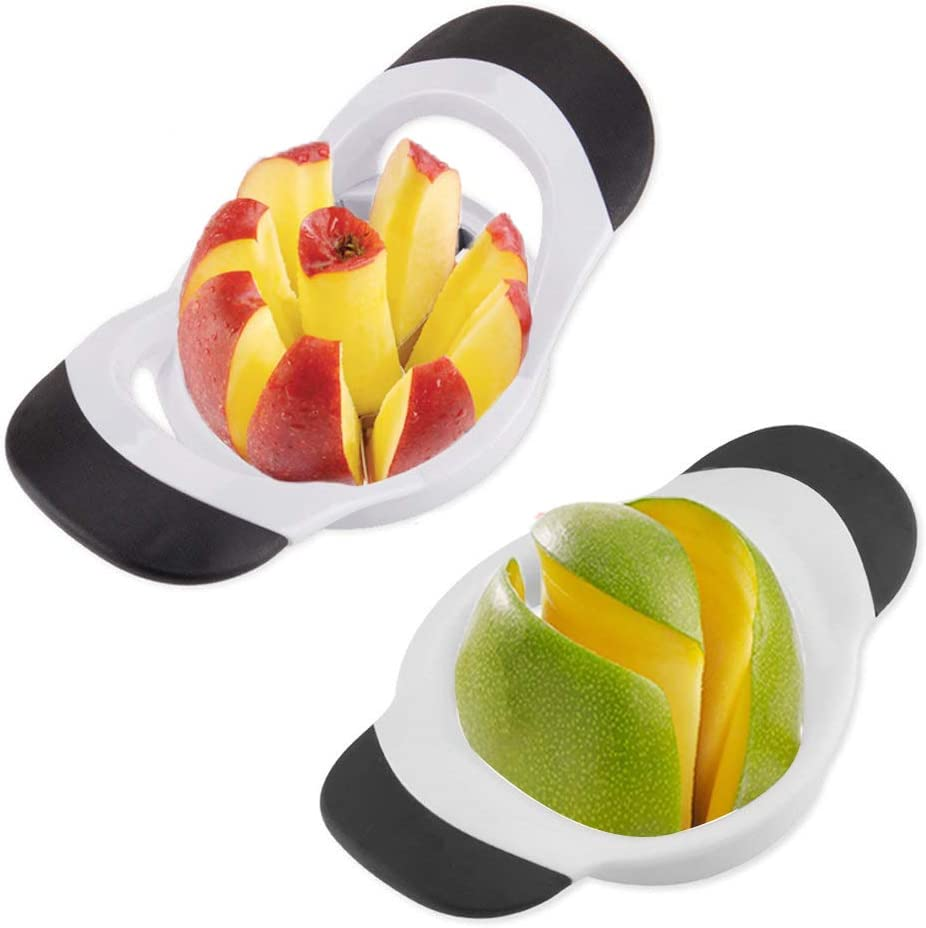 QELEG 8-Blade Ultra-Sharp 100% Stainless Steel Apple Slicer, Mango Slicer Kitchen Tools