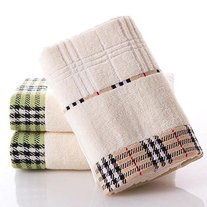 QUEENS Tres toallas de algodón desgaste normal de algodón tejido engrosado más cómodo y absorbente Simple