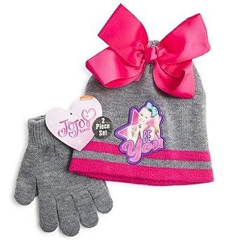 700a9fd6933 Amazon.com  Nickelodeon JoJo Siwa Beanie   Glove Set (Grey Multi)  Clothing