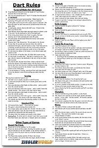 Amazon Com 11 X 17 Large Laminated Dart Rules