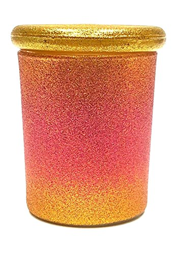 Pink Gold Pop Top Jar Glass Medical Jar Herb Stash Container (3oz Jar)