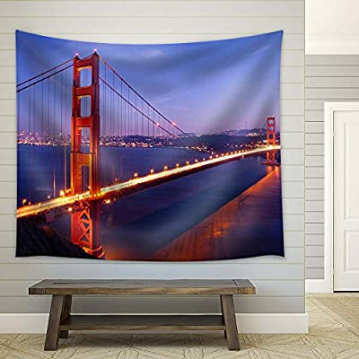 Golden Gate Bridge in San Francisco - Fabric Tapestry, Home Decor - 51x60 inches