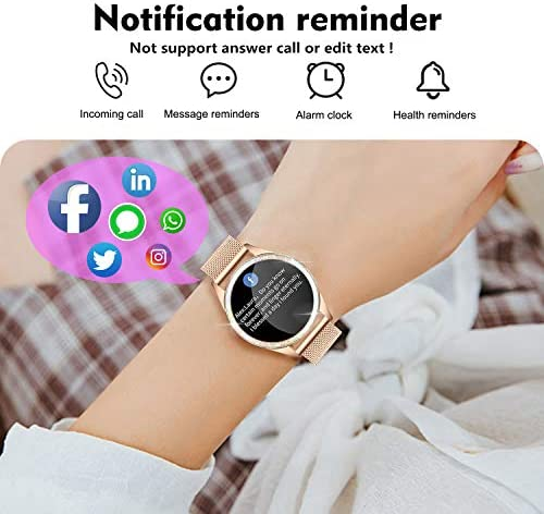 YOCUBY Smart Watch for Women,Bluetooth Fitness Tracker Compatible with iPhone,Android Phone, Female Sport Smartwatch Calorie Counter Pedometer, Lady Activity Tracker with Sleep Monitor, Heart Rate 2