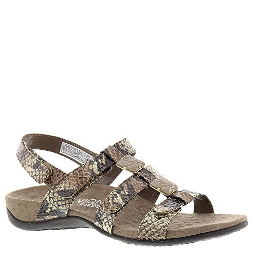 ea83b3c1bb7e8 Galleon - Vionic With Orthaheel Amber Women's Sandal 11 B(M) US Natural- Snake