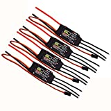 Hobbypower EMAX BLHELI 20A ESC 2-3S Speed Controller for Racing QAV250 ZMR250 Quadcopter FPV Drone (pack of 4 pcs)