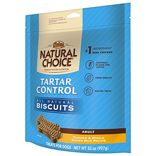 Nutro NATURAL CHOICE Tartar Control Adult Biscuits Chicken and Whole Brown Rice Recipe - 32 oz. (907 g)