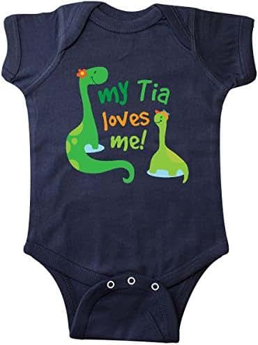 inktastic My Tia Loves Me Dinosaur Infant Creeper