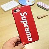 Supreme シュプリーム iPhone7 おしゃれ携帯カバー iPhone7plus ケース 兼用ケース 英字 耐衝撃 超軽量 高品質 スマホカバー スマホケース iPhoneケース (iPhone7 2色選択) (iphone 7, レッド )