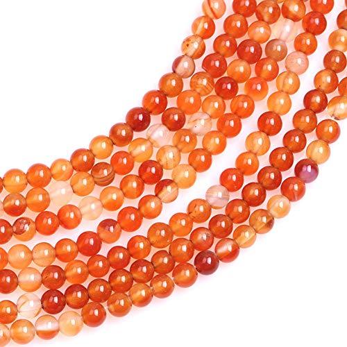 - JOE FOREMAN 4mm Red Cernelian Semi Precious Gemstone Round Loose Beads for Jewelry Making DIY Handmade Craft Supplies 15