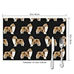 Gao808yuniqi Rough Collie Dog 3D Printed Tableware Mat,Placemats Set of 6,18 X 12,Snack Placemats,Beverage Placemats,Party Placemats for Dining Table,Kitchen Drink Placemat 8