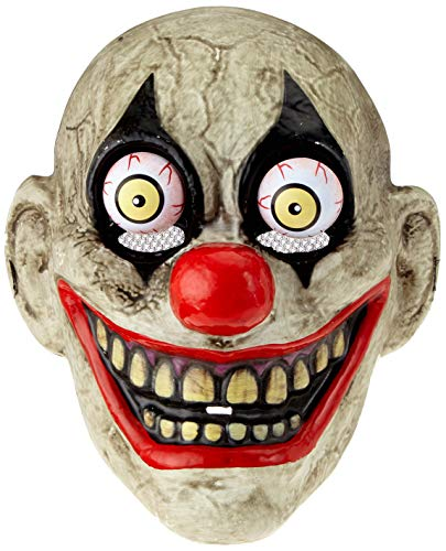 Haunted House - The Clown Mask with Moveable Eyes, Multi-Colour (Rubies S5144) ()