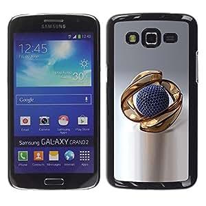 LECELL -- Funda protectora / Cubierta / Piel For Samsung Galaxy Grand 2 SM-G7102 SM-G7105 -- Gold Abstract --
