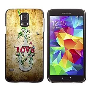 TopCaseStore / la caja del caucho duro de la cubierta de protección de la piel - I Love U Quote Slogan Romance Relationship - Samsung Galaxy S5 SM-G900
