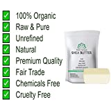 Shea Butter 1 lb Pure, Raw, Unrefined, Grade A, Ivory, Perfect Skin Moisturizer, DIY Lip Balms, Stretch Marks, Eczema, Acne, Recover Sun Damage, Kids Cream 16 oz by White Naturals