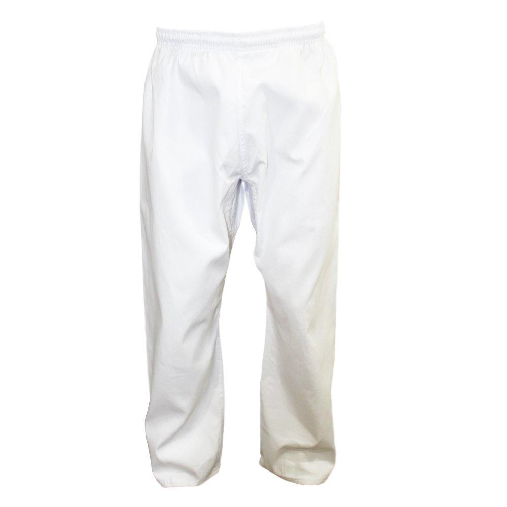 Tokyodo Karate & Taekwondo Trouser/Pants 8 Oz, Medium Weight (White, 4/170) by TOKYODO