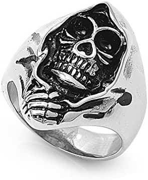Stainless Steel Death Cloak Ring 28MM