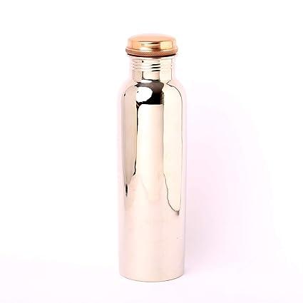 Amazon.com: Botella de agua de cobre puro ISHA con acabado ...