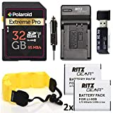 Accessory Kit for Olympus TG-4 and TG-5 Camera 2X Batteries, Charger, 32GB Memory Card, Float Strap Accessory Bundle