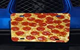 Pepperoni Pizza Aluminum License Plate for Car Truck Vehicles offers