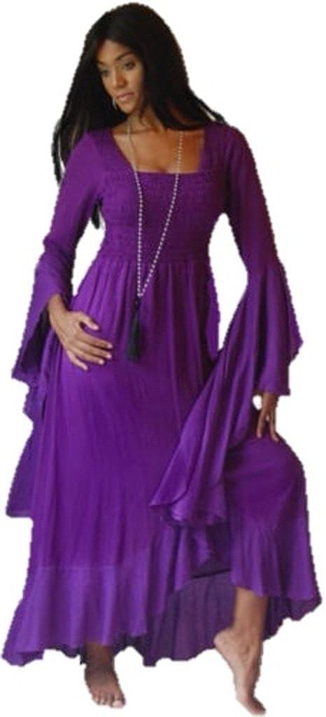 LOTUSTRADERS Womens Boho Maxi Dress Ruffles Plus Sizes Wrap Crinkle Rayon Q974