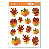 Beistle Decorative Autumn Leaf Clings, 12-Inch by 17-Inch Sheet