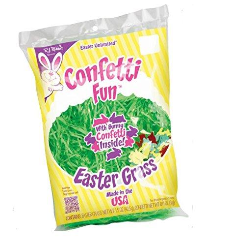 Confetti Fun Easter Grass New Asst. Colors (Green) (Green Grass Easter)