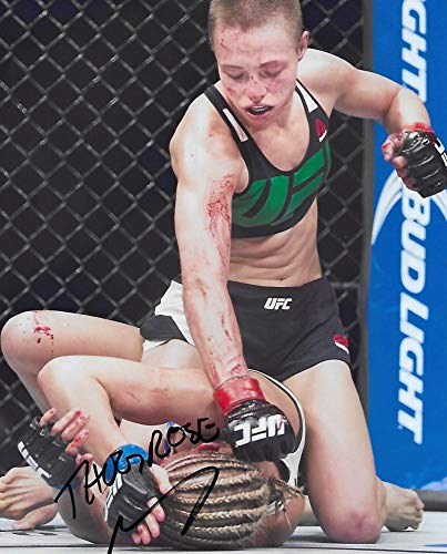 Rose Namajunas, Mixed Martial Artist, MMA, UFC, signed, autogrpahed 8X10 Photo, COA with the proof photo will be included