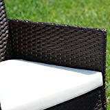 BELLEZE 3pc Outdoor Patio Furniture Wicker Cushion